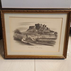 Framed Picture of Mont Orgueuil Castle